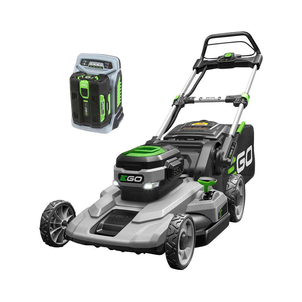 EGO 21 in. 56-Volt Lithium-ion Cordless Battery Walk Behind Push Mower 5.0 Ah Battery/Charger Included