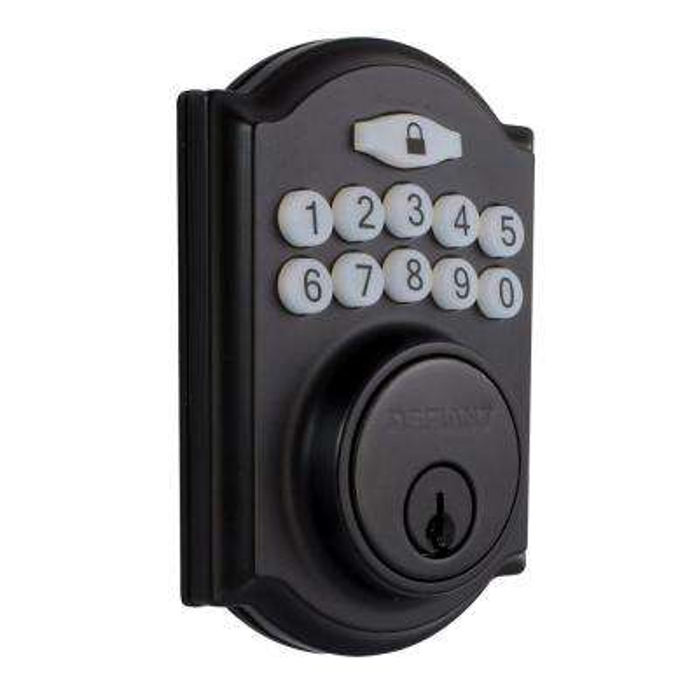Castle Matte Black Single Cylinder Electronic Keypad Deadbolt
