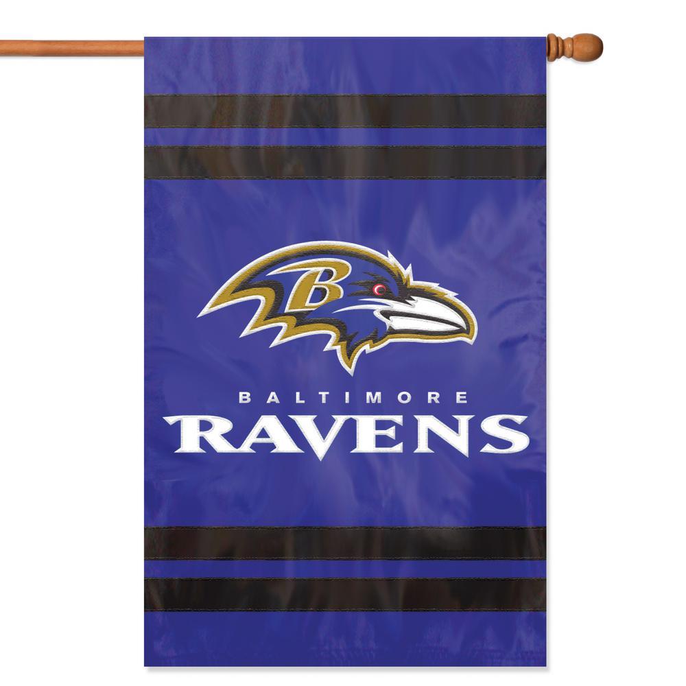 Baltimore Ravens Applique Banner Flag