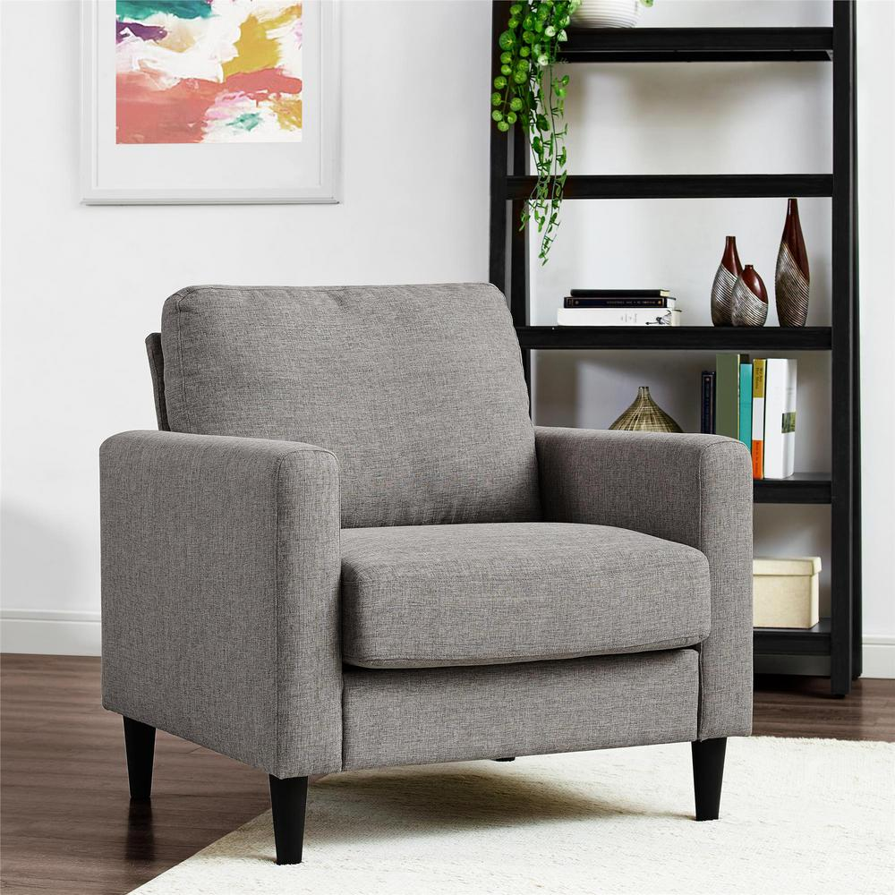 Dorel living jenny contemporary gray accent chair