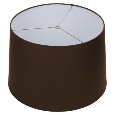 18 in. W x 12 in. H Coffee Brown/Nickel Hardware Coolie Lamp Shade