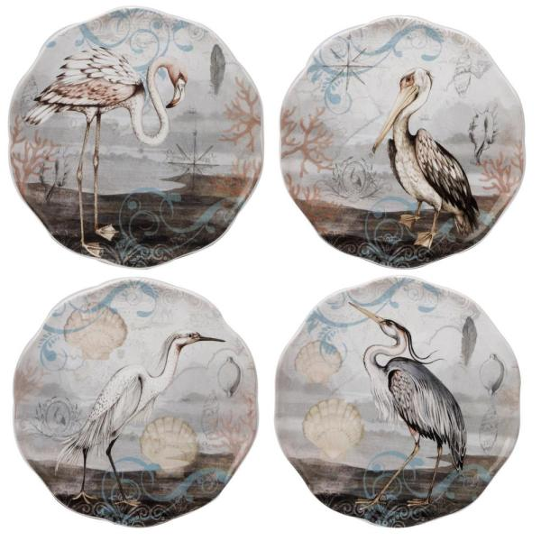 Certified International Coastal View 6 in. Multi-Colored Canape Plate (Set of