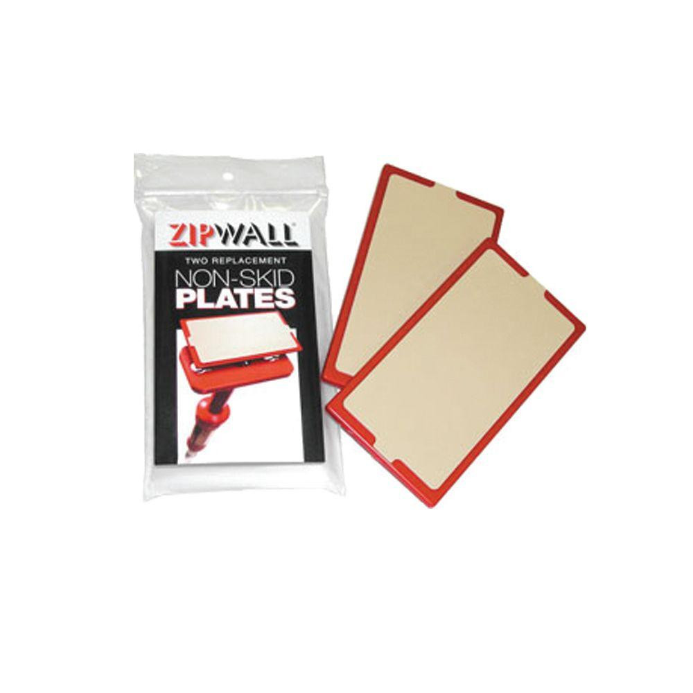 ZipWall 4 in. x .5 in. x 7 in. Non Skid Plate Replacement for the ZipWall Poles (2-Pack)