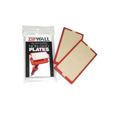 4 in. x .5 in. x 7 in. Non Skid Plate Replacement for the ZipWall Poles (2-Pack)