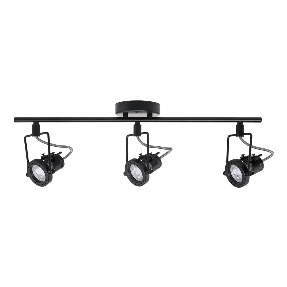 Hampton bay 1975 ft 3 light black led track lighting kit 59119 3 light black led track lighting kit mozeypictures Image collections
