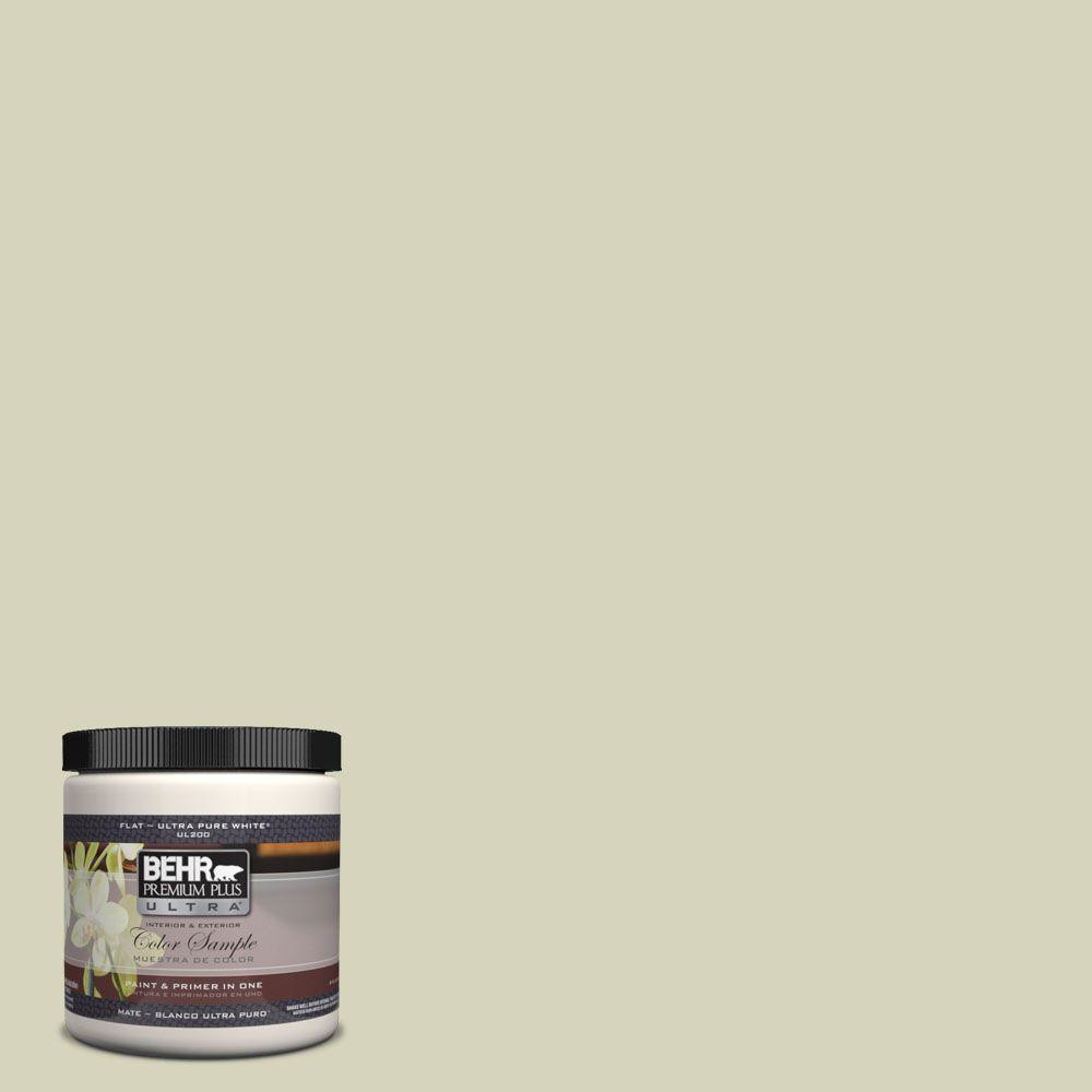 BEHR Premium Plus Ultra 8 oz. #UL200-13 Pale Cucumber Interior/Exterior Paint Sample