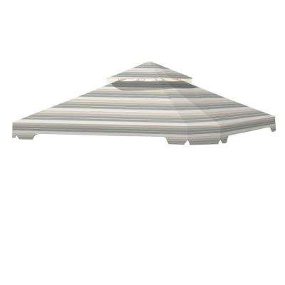 Standard 350 Stripe Stone Replacement Canopy Top Cover Set for 10 ft. x 10 ft. Cottleville Gazebo