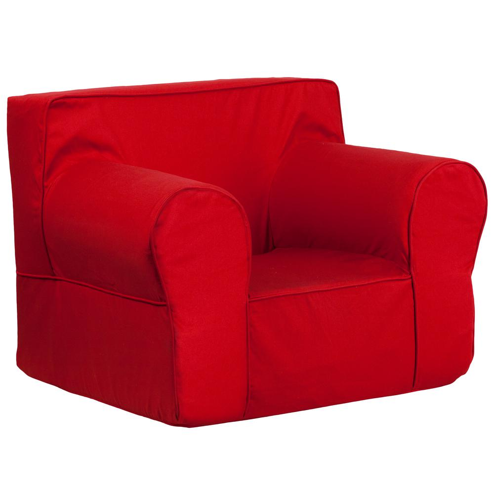 FLASH Oversized Solid Red Kids Chair