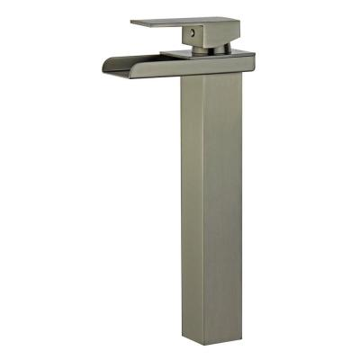Oviedo Single Hole Single-Handle Bathroom Faucet with Overflow Drain in Brushed Nickel
