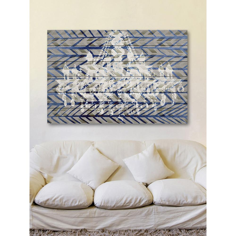"White Wood Wall Art 16 Inh X 24 Inw ""white Light""parvez Taj Printed White Wood"