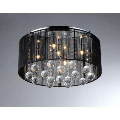 Jasmine 4-Light Black Crystal Ceiling Chandelier