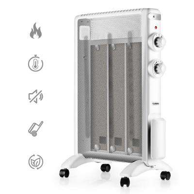 Arcade 1500-Watt Electric Micathermic Flat-Panel Space Heater with Adjustable Thermostat White