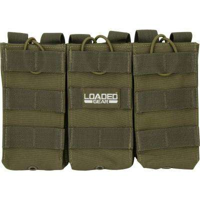 Loaded Gear CX-200 Triple Magazine Pouch in Olive Drab Green