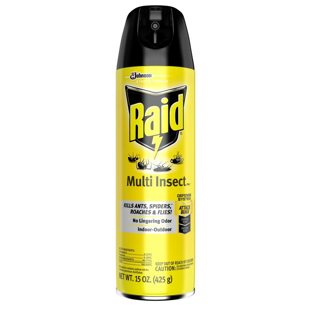 raid 15 oz multi insect killer aerosol scj638602 the home depot