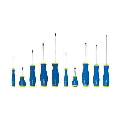 Phillips and Slotted Screwdriver Set (10-Piece)