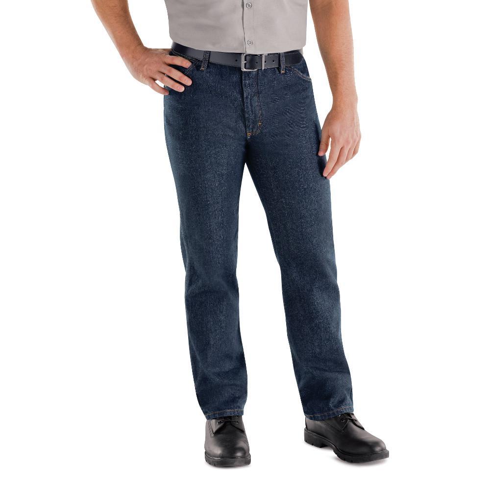a68fcf47 Red Kap Men's Size 48 in. x 30 in. Rigid Denim Classic Rigid Jean ...