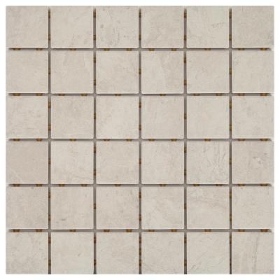 LuxeCraft 12 in. x 12 in. x 6.35mm Feather Ceramic Mosaic Floor and Wall Tile (1 sq. ft. / piece)