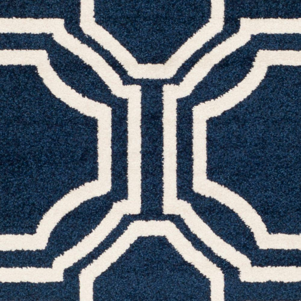 Safavieh Amherst Navy/Ivory 9 ft. x 12 ft. Indoor/Outdoor Area Rug