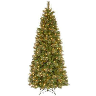 7-1/2 ft. Tacoma Pine Slim Hinged Artificial Christmas Tree with 500 Clear Lights