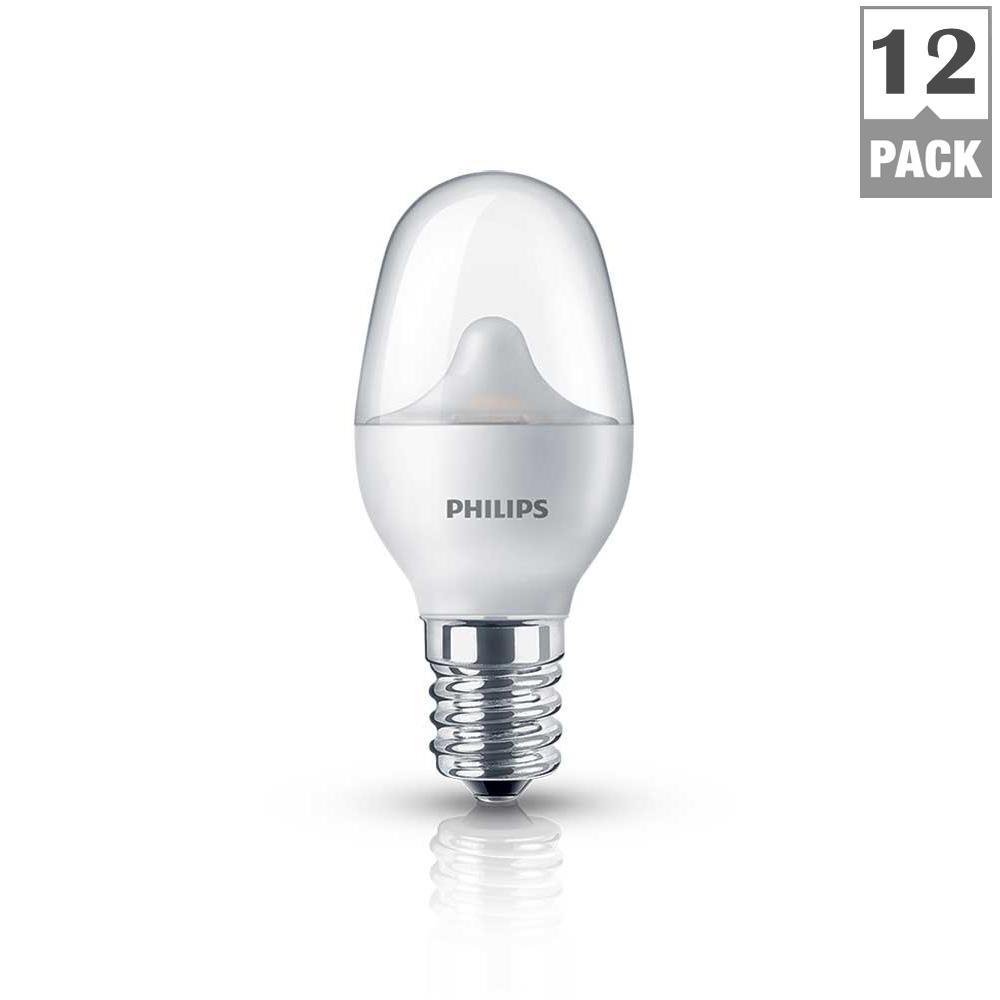 Philips 7 Watt Equivalent Led Soft White C7 Night Light 12 Pack