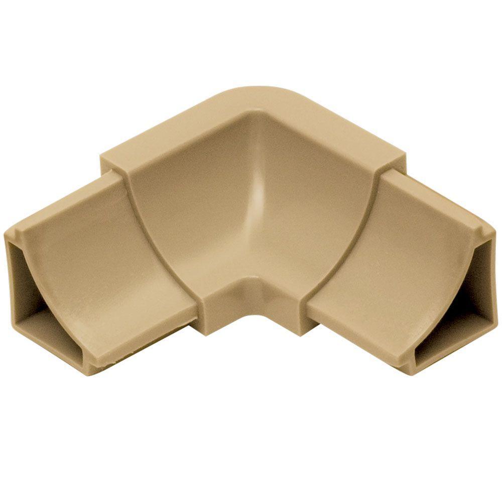 Dilex-HKW Light Beige 1 in. x 2 in. PVC 2-Way Inside Corner