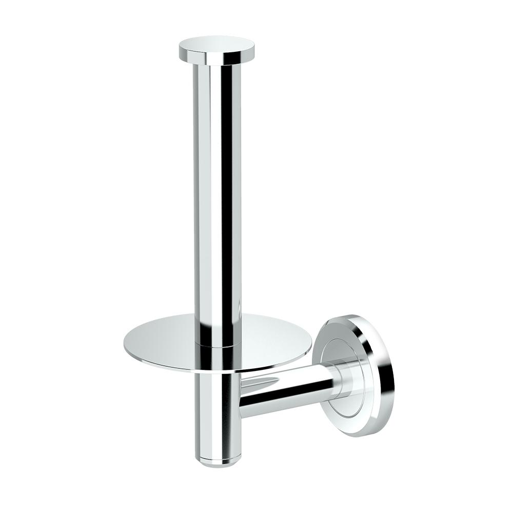 gatco latitude ii zinc single post toilet paper holder in chrome 4248 the home depot. Black Bedroom Furniture Sets. Home Design Ideas