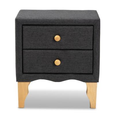 Artis 2-Drawer Charcoal Nightstand