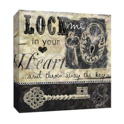 15 in. x 15 in. ''Lock and Key I'' Canvas Wall Art