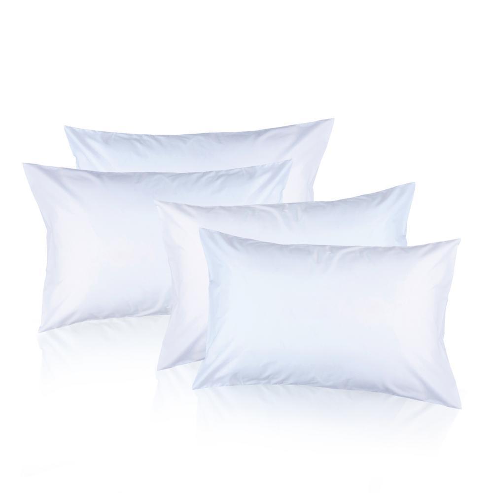 White Dream Microfiber Queen Pillow (Set of 4)