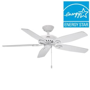 Hunter builder elite 52 in indoor white ceiling fan 53240 the hunter builder elite 52 in indoor white ceiling fan 53240 the home depot mozeypictures Gallery