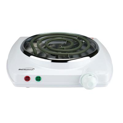 Single Burner 5 in. White Hot Plate with Temperature Control