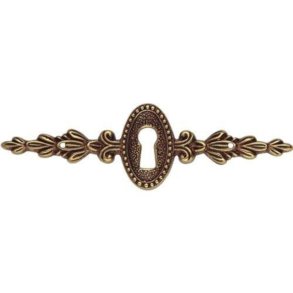 Louis XVI 4.53 in. Antique Brass Dark Escutcheon