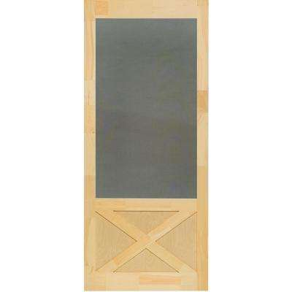 32 in. x 84 in. Thompson Natural Pine Screen Door