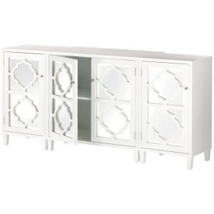 white console cabinet. Internet #304249044. Home Decorators Collection Reflections White Console Table Cabinet H