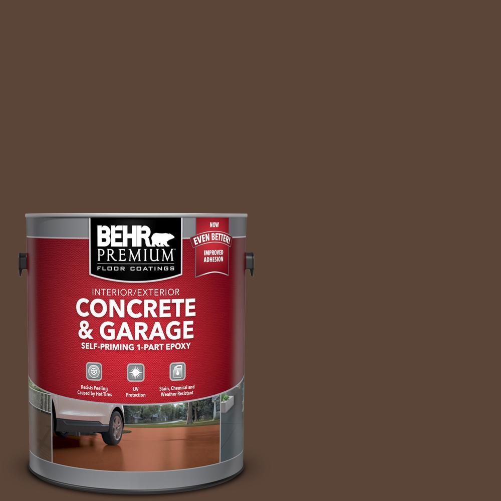 BEHR Premium 1 gal. #N150-7 Chocolate Therapy Self-Priming 1-Part Epoxy Satin Interior/Exterior Concrete and Garage Floor Paint