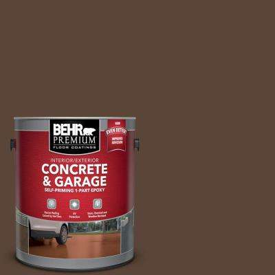 1 gal. #N150-7 Chocolate Therapy Self-Priming 1-Part Epoxy Satin Interior/Exterior Concrete and Garage Floor Paint