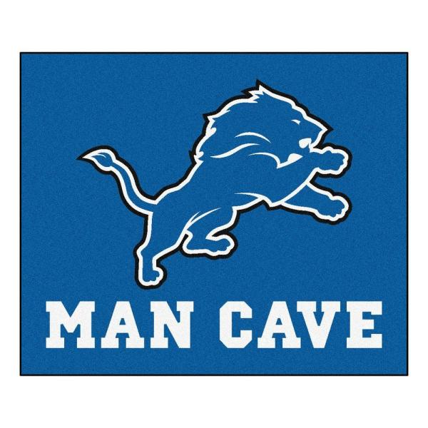 Detroit Lions Blue Man Cave 5 ft. x 6 ft. Area Rug