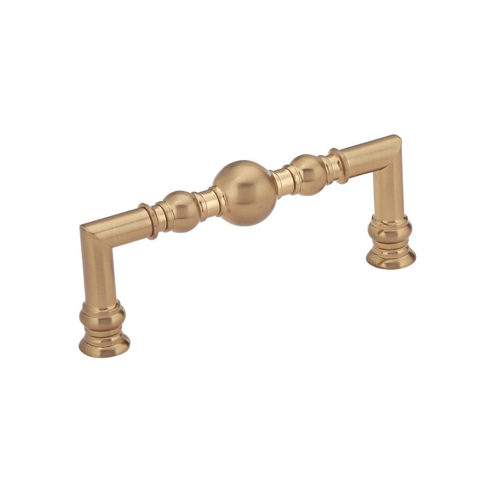 Classic 3-3/4 in. (96 mm) Champagne Bronze Cabinet Pull