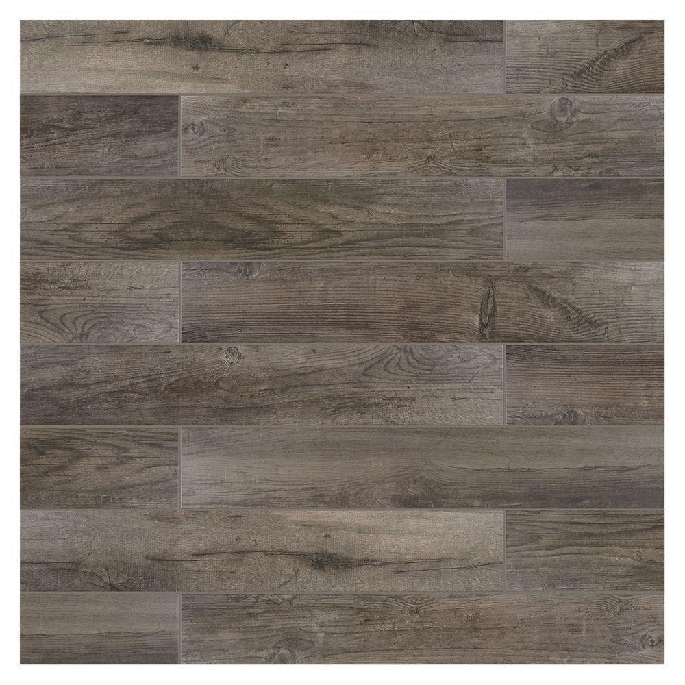 Marazzi Montagna Rockwood 6 In X 36 Glazed Porcelain Floor And Wall Tile 14 50 Sq Ft Case