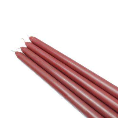 12 in. Burgundy Taper Candles (12-Set)
