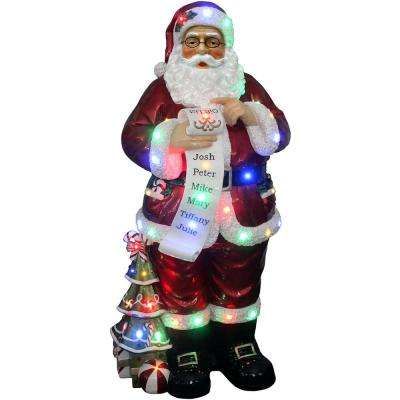 4 ft. Santa Claus Holding Naughty & Nice Scroll with Long-Lasting LED Lights