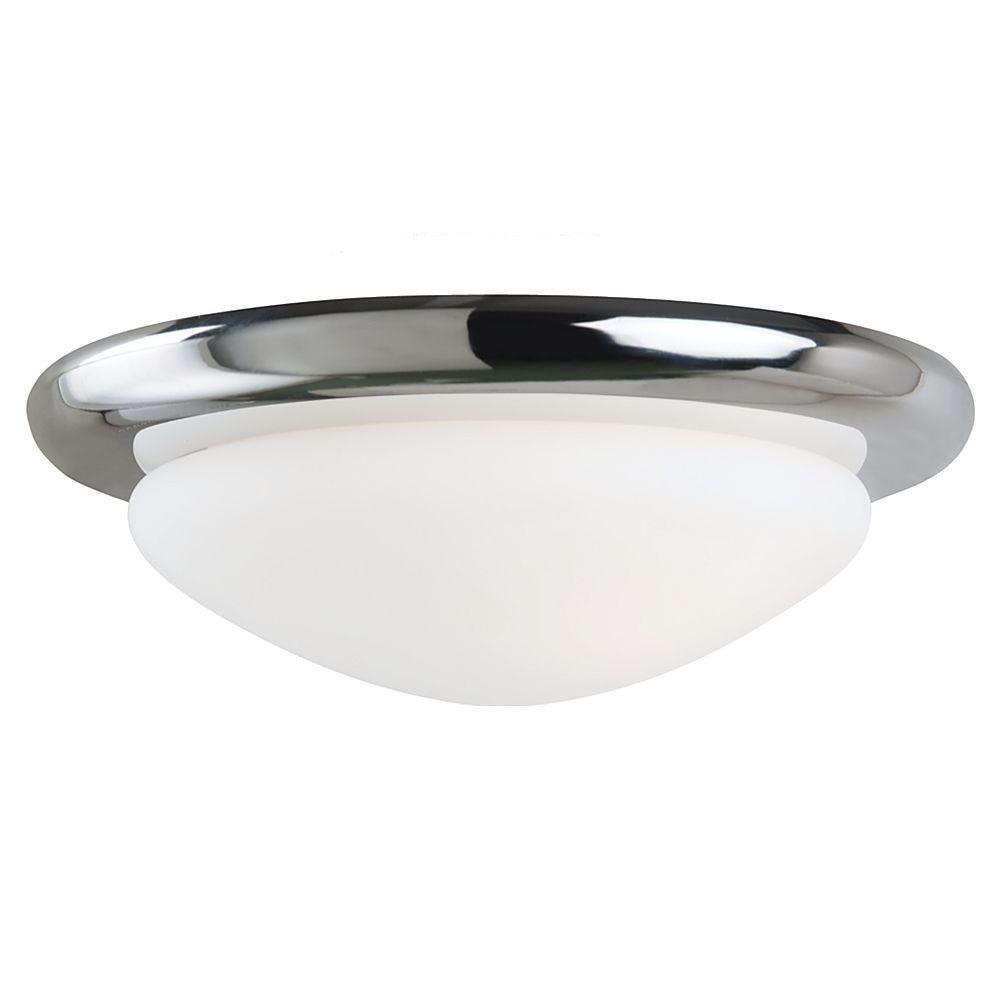 1-Light Chrome Fluorescent Ceiling Fan Light Kit