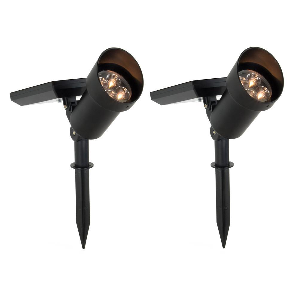 High Powered LED Metal Solar Spotlight (2-Pack)
