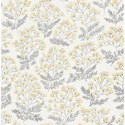 Yellow Wethersfield Peel and Stick Wallpaper 30.75 sq. ft.