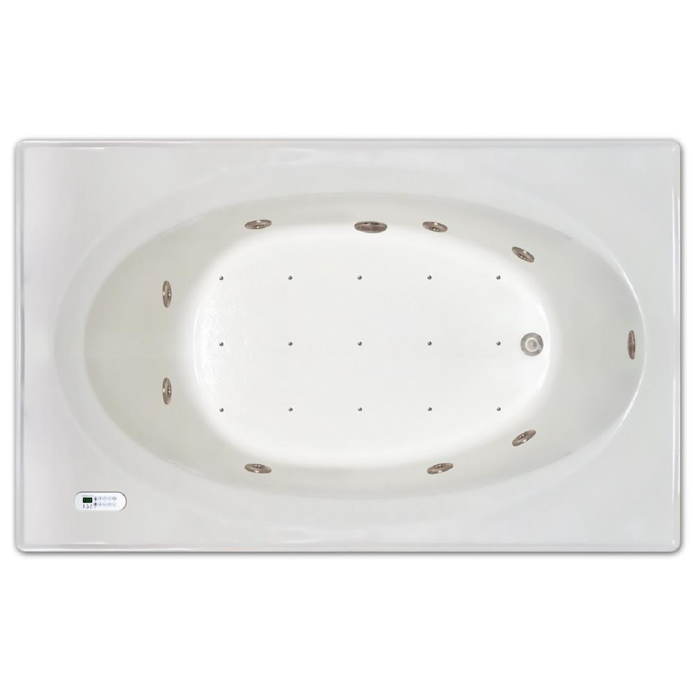 Pinnacle 6 ft. Right Drain Drop-In Whirlpool and Air Bath Tub with ...