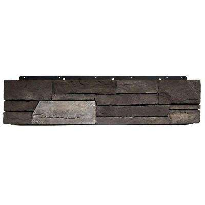 8 in. x 72 in. Versetta Stone Ledgestone Flat Graphite Siding (6-Bundle/Box)
