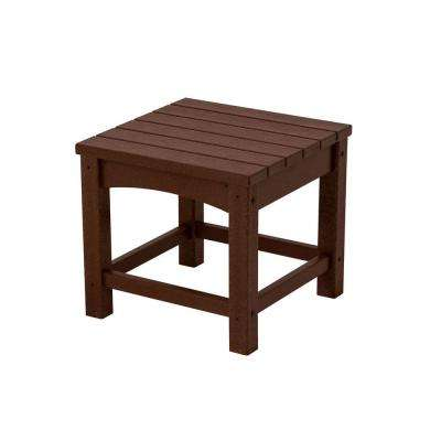 Club 18 in. Mahogany Patio Side Table