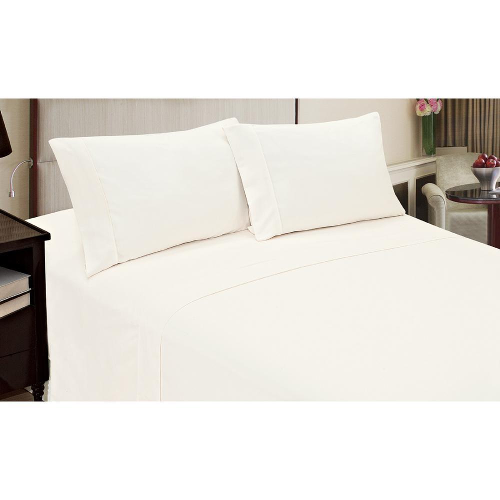 Jill Morgan Fashion 3-Piece Solid White Twin Sheet Set