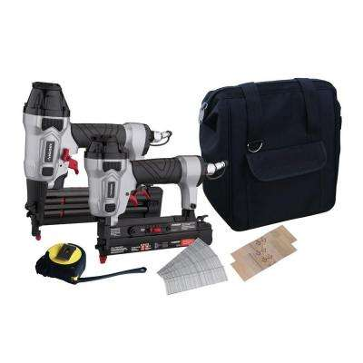 Pneumatic Finishing Kit with 18-Gauge Brad Nailer and 23-Gauge Micro Nailer (6-Piece)