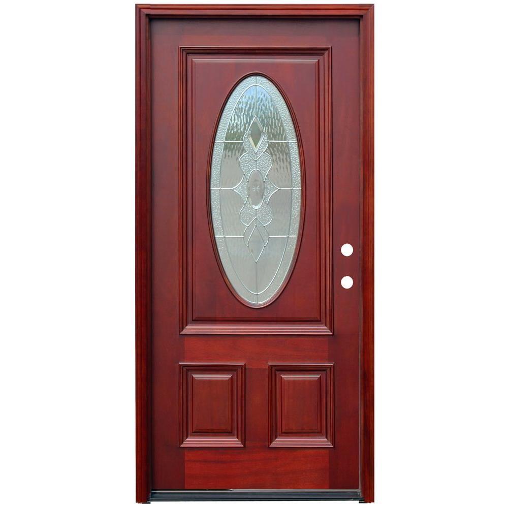 Single door wood doors front doors the home depot - Home depot exterior doors prices ...